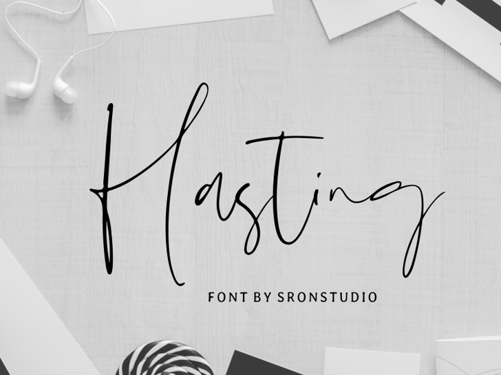Hasting Font poster