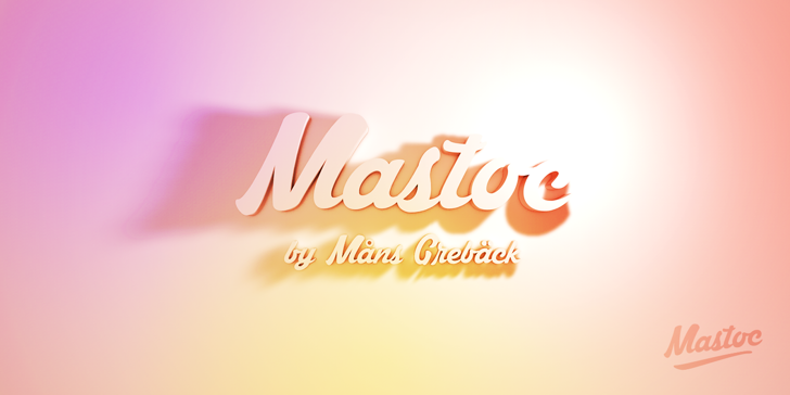 Mastoc Personal Use Only Font design text