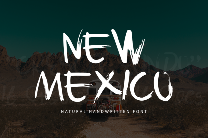 New Mexico Demo Font poster
