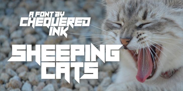 Sheeping Cats Font animal mammal