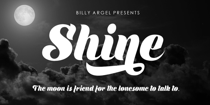 Shine Personal Use Font poster text