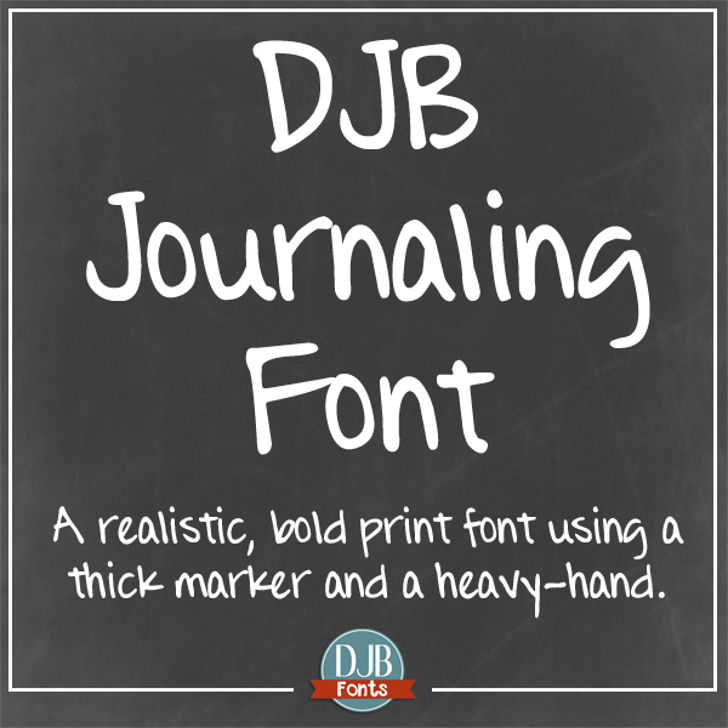 DJB Journaling Font text book