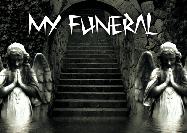 My Funeral Font outdoor stairs