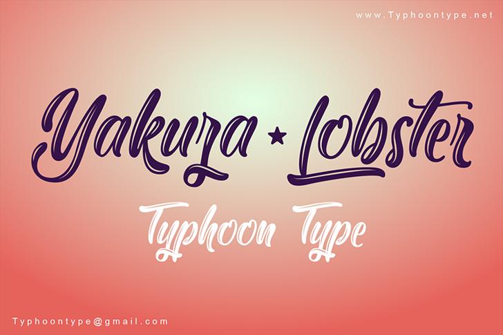 Yakuza Lobster Font design text