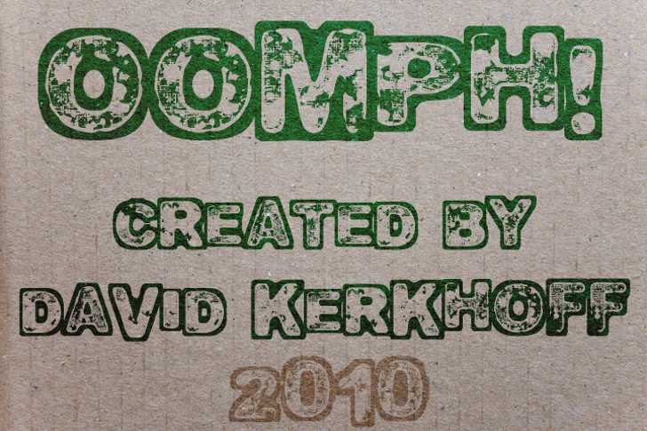 Oomph Font handwriting typography