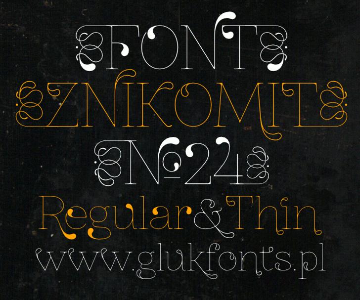 ZnikomitNo24 Font handwriting typography