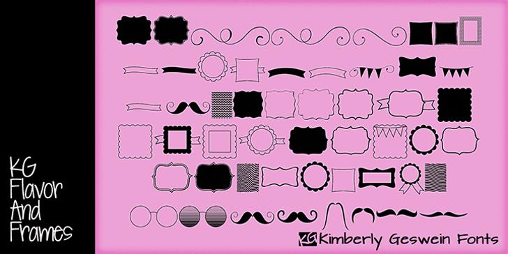KG Flavor and Frames Font drawing cartoon