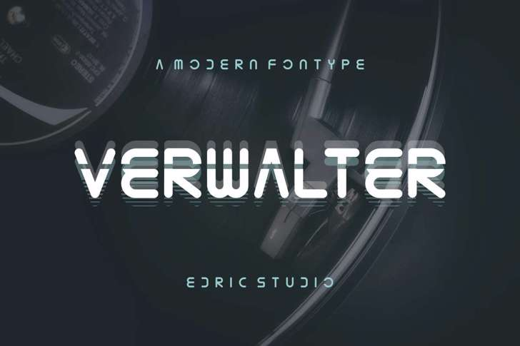 Verwalter Font poster