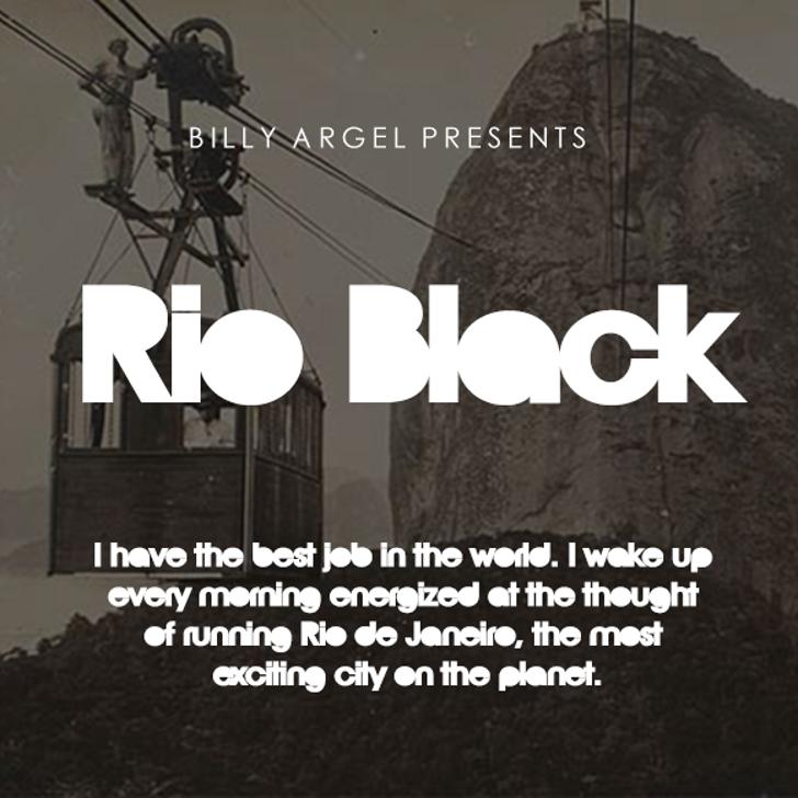 Rio Black Pesonal Use Font screenshot design