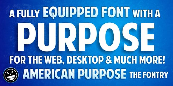 American Purpose Font bottle screenshot