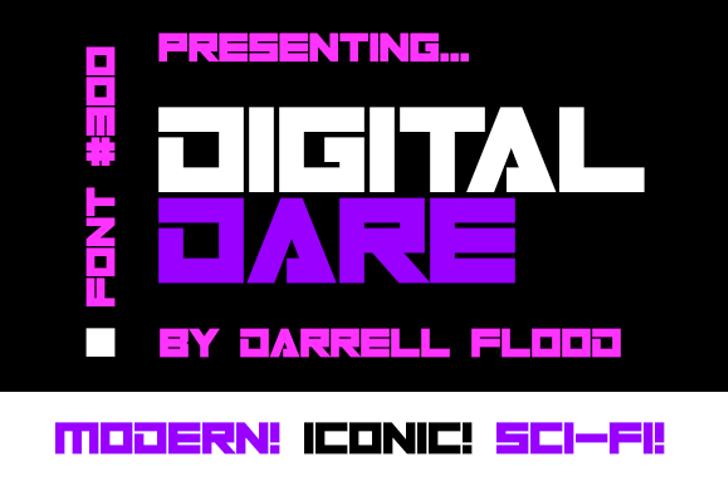 Digital Dare Font screenshot design