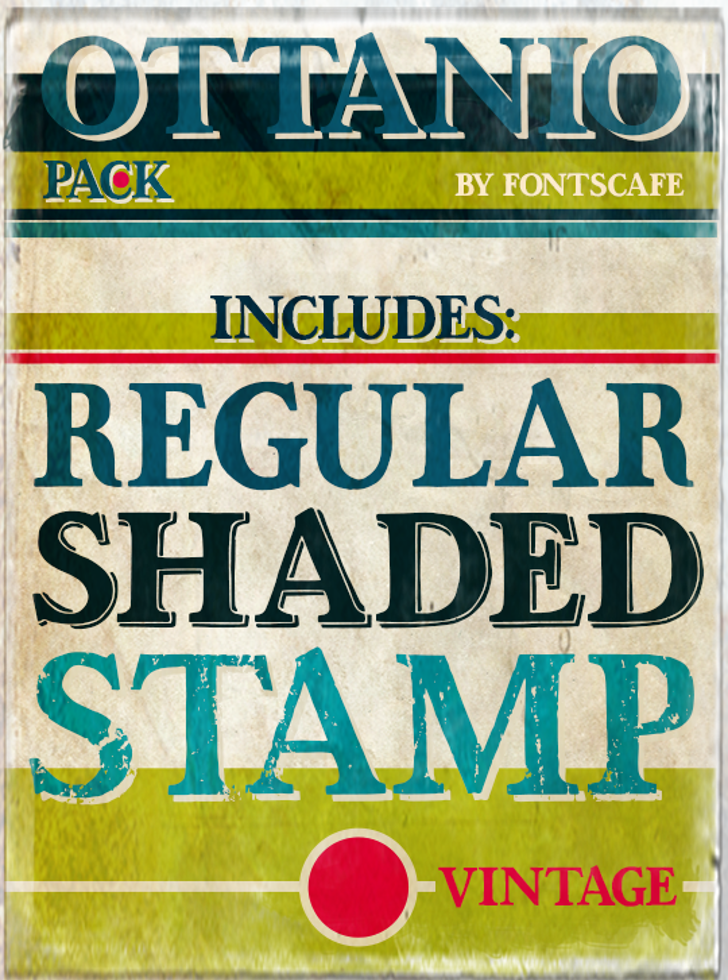 Ottanio Stamp DEMO Font poster outdoor