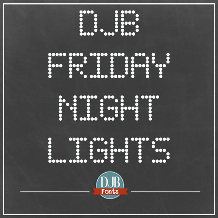 DJB Friday Night Lights Font screenshot scoreboard