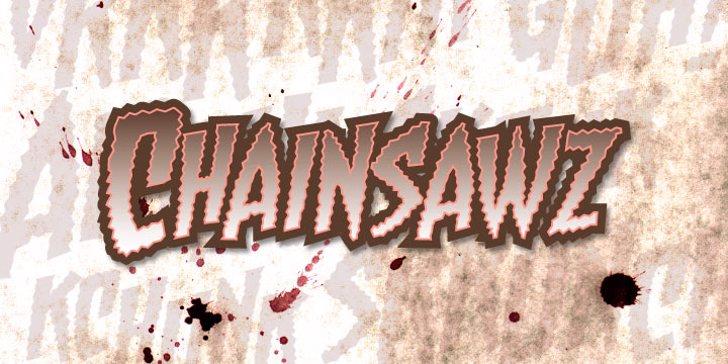 Chainsawz BB Font handwriting drawing