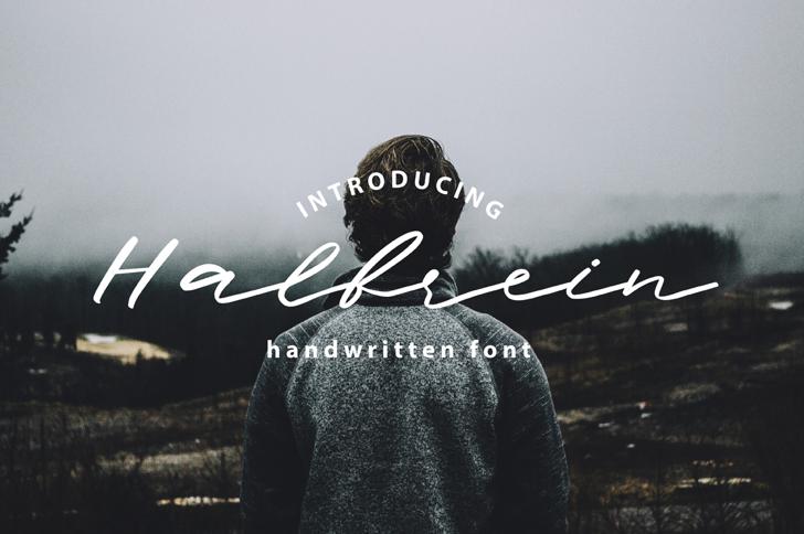 Halbrein Font handwriting
