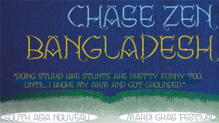 CHASE ZEN BANGLADESH Font text handwriting