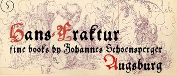 Hans Fraktur Font text handwriting
