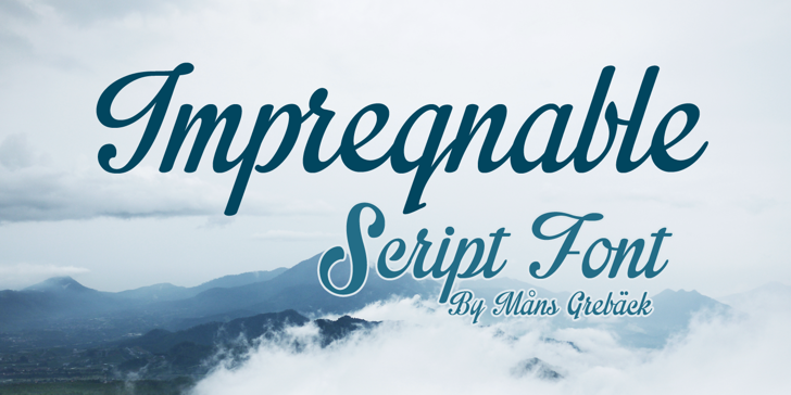 Impregnable Personal Use Only Font text typography