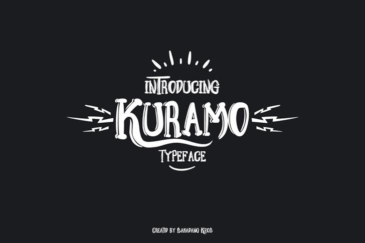 Kuramo Font design typography