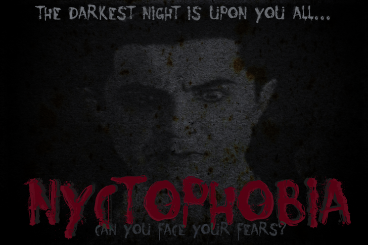 Nyctophobia Font poster sign