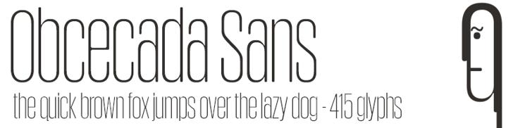 Obcecada Sans Font design typography