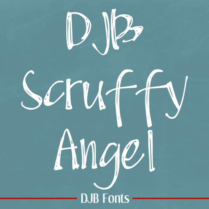 DJB Scruffy Angel Font blackboard handwriting
