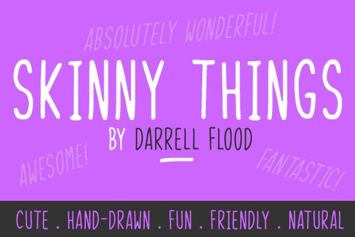 Skinny Things Font design screenshot