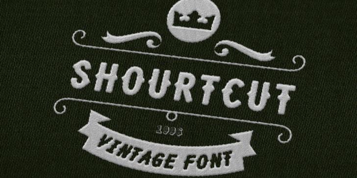Shourtcut Font stitch