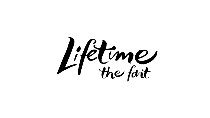 Lifelogo Hard Font handwriting design