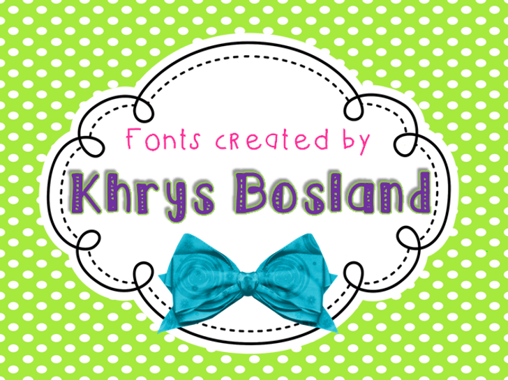 KBLuckyClover Font cartoon vector graphics