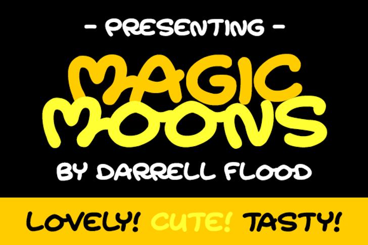 Magic Moonshine Font screenshot poster
