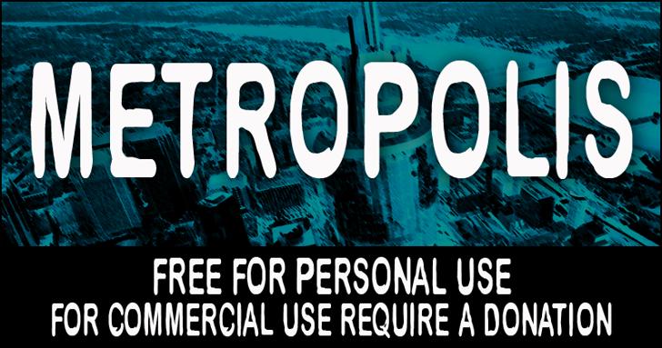 CF Metropolis Font screenshot poster
