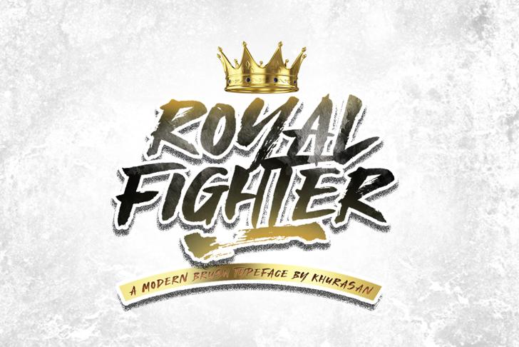 Royal Fighter Font poster