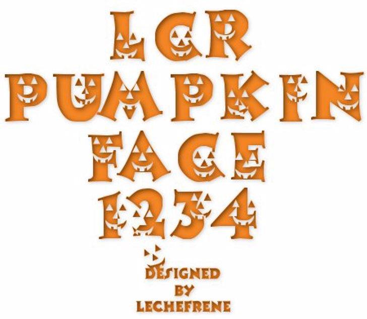 LCR Pumpkin Face Font cartoon design