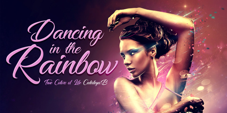 Dancing in the Rainbow Font poster person