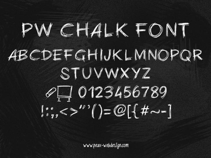 PWChalk Font text handwriting