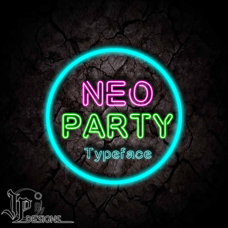 NÉO PARTY Font green sign