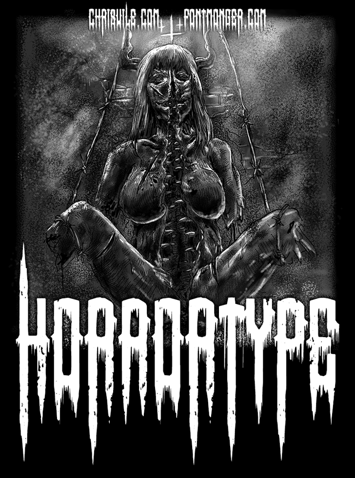 Horror Type Font poster