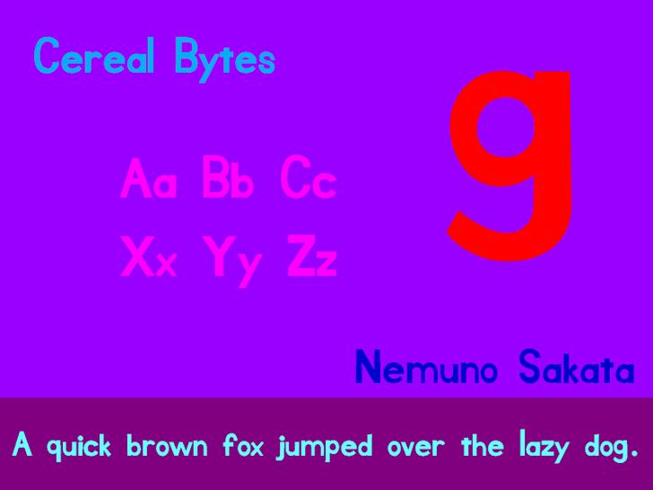 Cereal Bytes Font graphic design