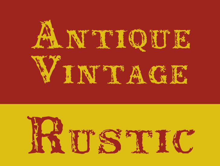 Rustic Font design illustration