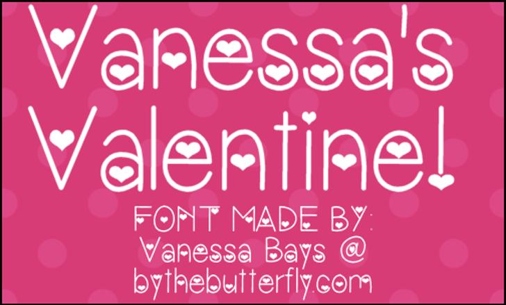 VanessasValentine Font design typography