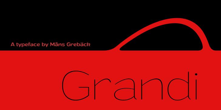Grandi PERSONAL USE Font design graphic