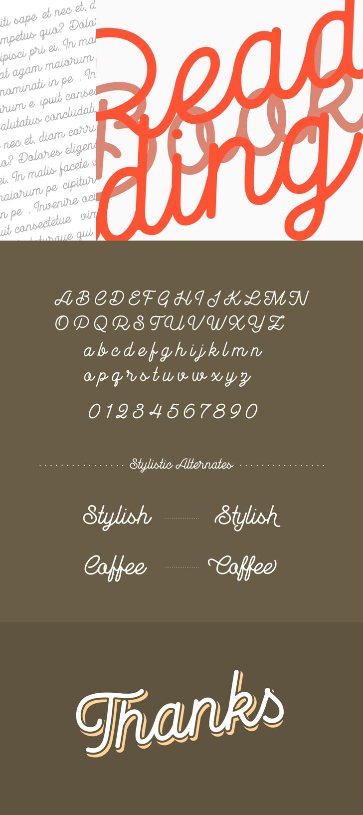 Goldana Base Font screenshot text