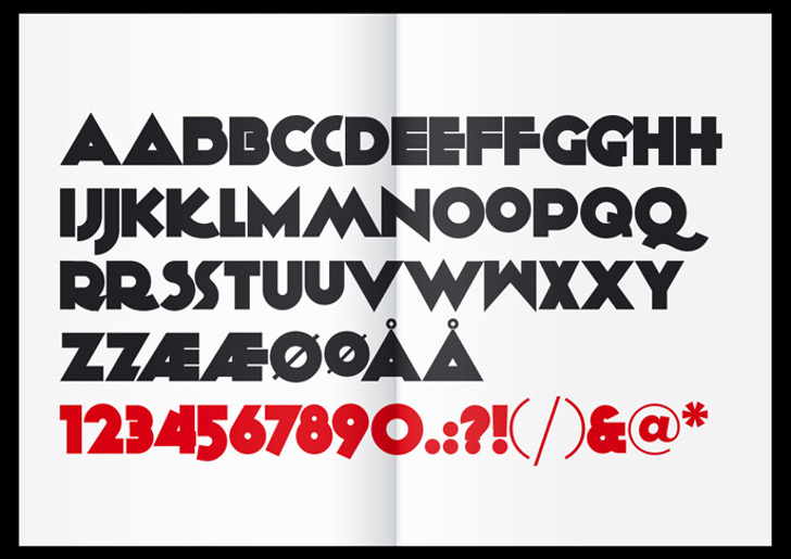 KiloGram Font design graphic