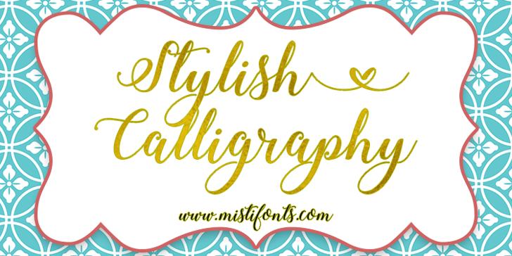 Stylish Calligraphy Demo Font design typography