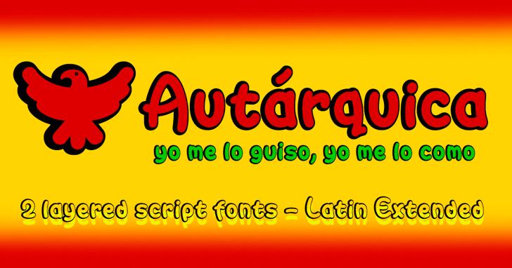 Autarquica Font cartoon font