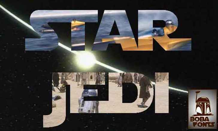 Star Jedi Font screenshot art