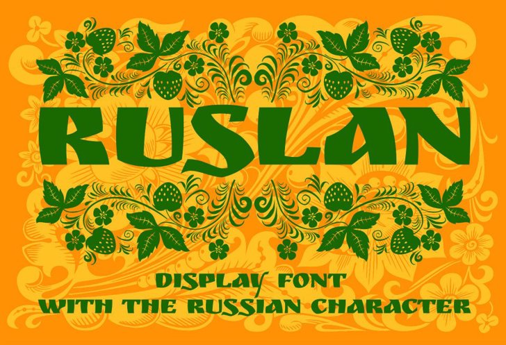 Ruslan Display Font illustration poster