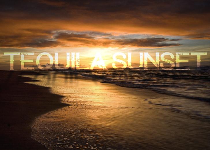 Tequila Sunset Font outdoor beach