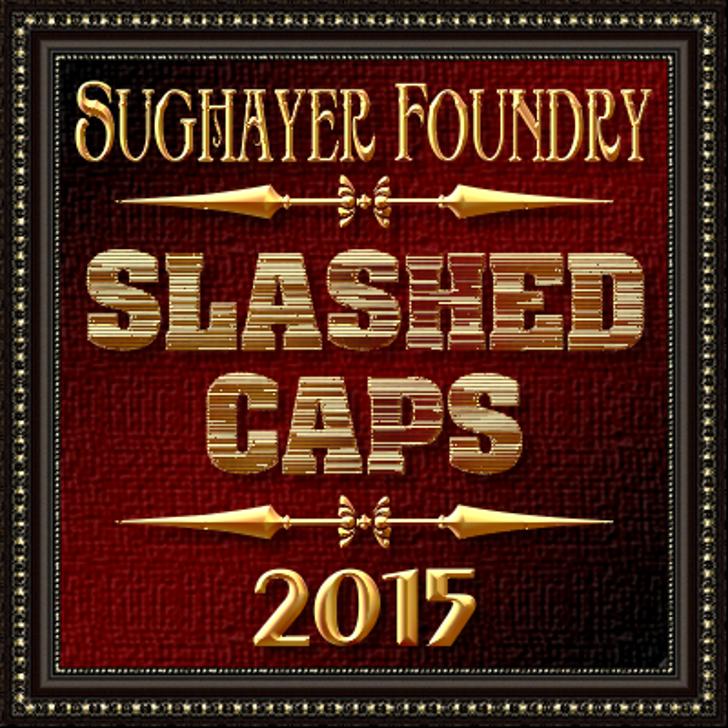 Slashed CAPS Font poster text